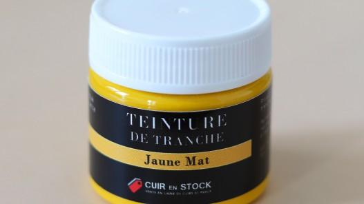 Teinture de tranche pour cuir - Jaune Mat - Cuir en Stock