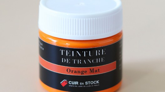 Teinture de tranche pour cuir - Orange Mat - Cuir en Stock