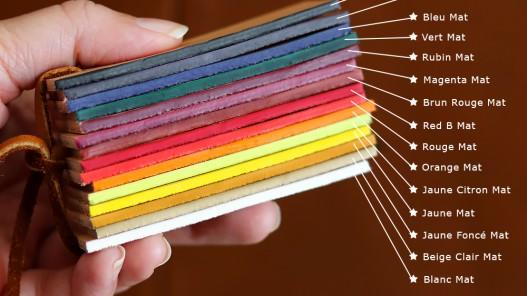 Teinture de tranche base aqueuse pour cuir - Fabrication française - Red B - Cuirenstock