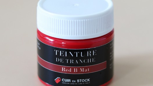 Teinture de tranche pour cuir - Red B Mat - Cuir en Stock