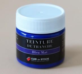Teinture de tranche pour cuir - Bleu Mat - Cuir en Stock