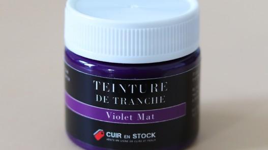 Teinture de tranche pour cuir - Violet Mat - Cuir en Stock