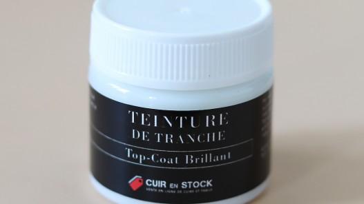 Top-coat incolore brillant de finition pour tranche de cuir -Cuirenstock