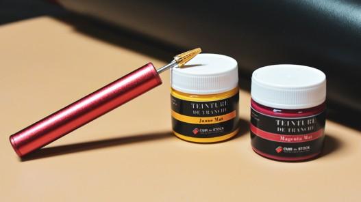 Finitions pour cuir - vernis brillant teinture de tranche 50 ml - Cuir en Stock