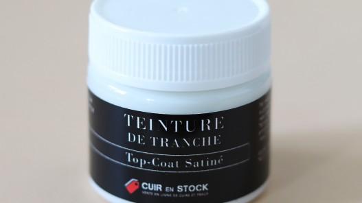 Top-coat incolore satiné de finition pour tranche de cuir -Cuirenstock