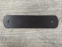 Poignée en cuir véritable - marron chocolat - décoration - customisation de meubles ou d'objets - Cuir en Stock