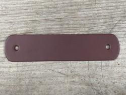 Poignée en cuir - bordeaux - vendue à l'unité - décoration - customisation de meuble ou d'objet - Cuir en stock