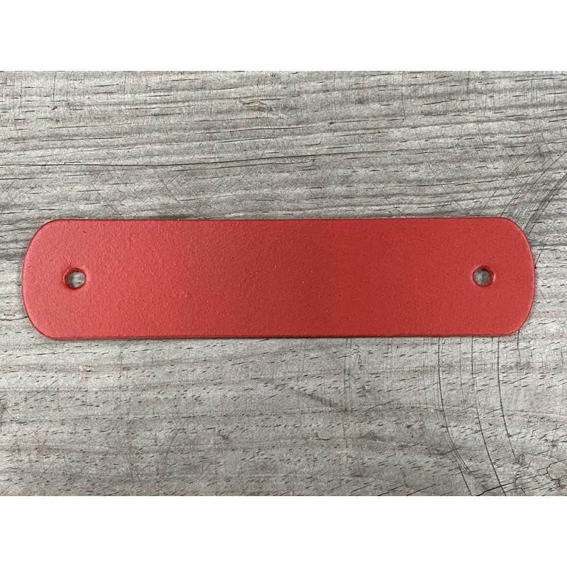Poignée en cuir - rouge - vendue à l'unité - décoration - customisation de meuble ou d'objet - Cuir en stock