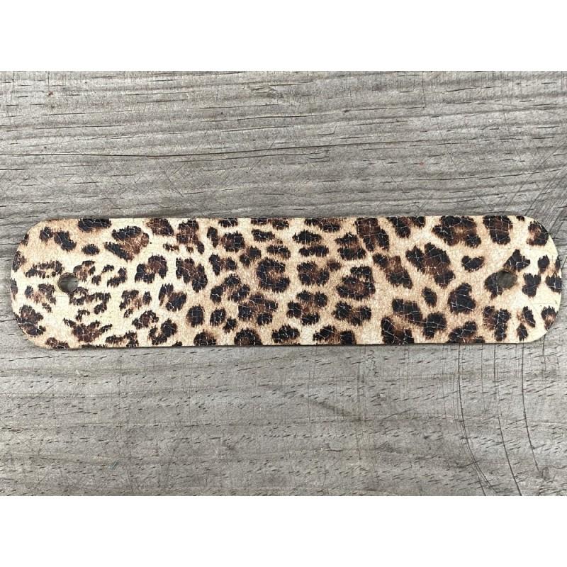 Poignée en cuir - léopard - vendue à l'unité - décoration - customisation de meuble ou d'objet - Cuir en stock