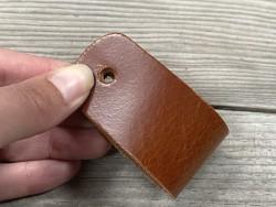Poignée en cuir - pullup fauve - vendue à l'unité - décoration - customisation de meuble ou d'objet - Cuir en stock