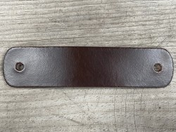 Poignée en cuir - pullup marron - vendue à l'unité - décoration - customisation de meuble ou d'objet - Cuir en stock
