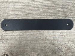 Grande poignée en cuir noir - élégante et facile à poser - décoration - customisation - Cuir en Stock