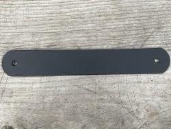 Grande poignée en cuir - noir mat - customisation et décoration d'objets ou meubles - Cuir en Stock