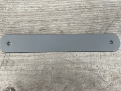 Grande poignée en cuir gris - élégante et facile à poser - décoration - customisation - Cuir en Stock