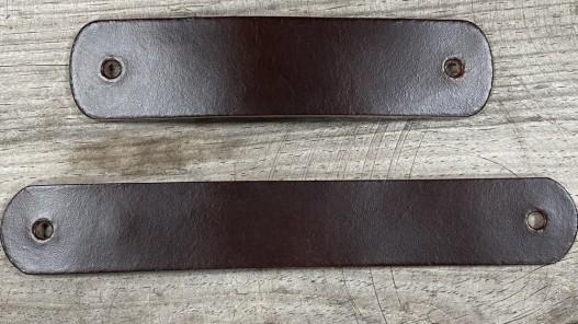 Grande poignée en cuir - marron pullup - customisation et décoration d'objets ou meubles - Cuir en Stock
