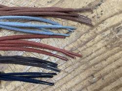 Lot de 5 paires de lacets rond coton - différent coloris - bonnes affaires - Cuir en Stock