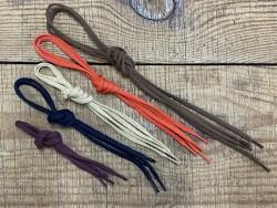 Lot de 5 paires de lacets plat polyester tricoté - différent coloris - bonnes affaires - cuir en stock