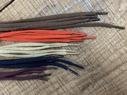 Lot de 5 paires de lacets plat polyester tricoté - différent coloris - bonnes affaires - Cuirenstock