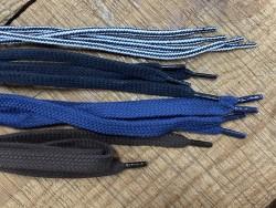 Lot de 4 paires de lacets rond et plat coton - différent coloris - bonnes affaires - Cuirenstock