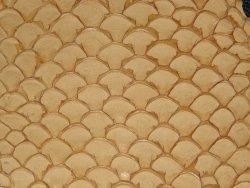Cuir de poisson Tilapia fauve mat maroquinerie bijoux accessoire Cuir en Stock