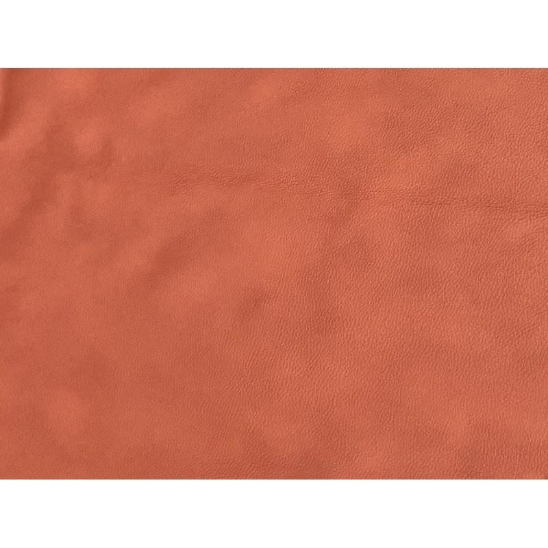 Peau entière - cuir de vache ameublement ou sellerie automobile - orange brique - fin de série - Cuirenstock