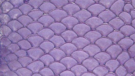 Cuir de poisson Tilapia violet mat bijoux accessoire Cuir en Stock