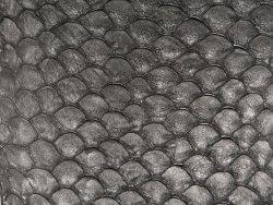 Cuir de poisson tilapia noir mat bijou accessoire Cuir en Stock