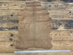 Peau cuir de chèvre grain façon serpent brun pailleté bronze - maroquinerie - cuir en stock