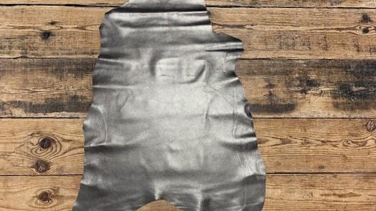 Peau de cuir de chèvre métallisé bronze antique - maroquinerie - Cuir en Stock