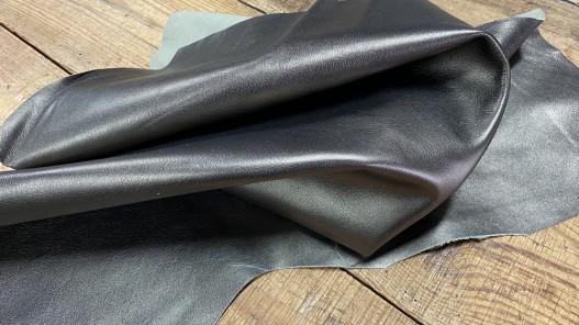 Souplesse peau de cuir de chèvre métallisé bronze antique - maroquinerie - Cuirenstock