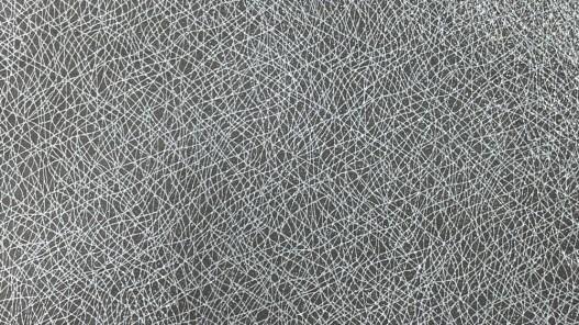 Cuir grain spider gris métallisé argent - maroquinerie - Cuir en Stock