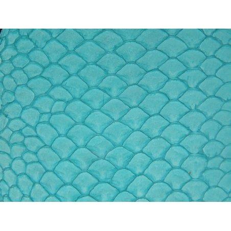 Petite peau de tilapia turquoise
