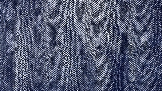 Peau de cuir de veau grain façon serpent - bleu marine - maroquinerie - cuir en stock