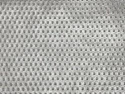 Grain peau de cuir de veau effet clouté métallisé argent - maroquinerie - cuir en stock