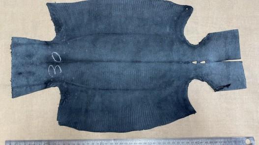 Envers peau de cuir de lézard noir mat - petite maroquinerie - bijou - accessoire - cuirenstock