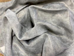 Peau veau velours pailleté beige métallisé bronze Cuir en Stock