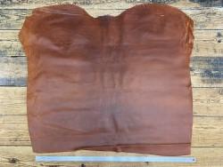 Peau veau velours ciré huilé terra cotta maroquinerie vêtement Cuir en Stock