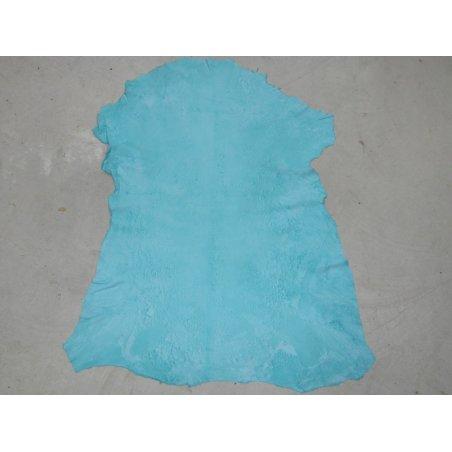 Agneau velours sauvage turquoise