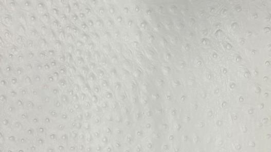 Détail peau de cuir de veau grain façon autruche - blanc - maroquinerie - cuir en stock