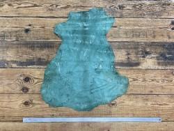 Peau de cuir de chèvre effet froissé couleur vert menthe - Cuir en Stock