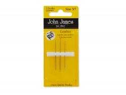 Set 3 aiguilles John James couture du cuir - Cuir en Stock