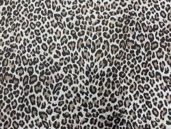 Demi peau de cuir de veau velours façon léopard - maroquinerie - Cuir en Stock