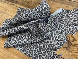Souplesse peau de cuir de veau velours façon léopard - maroquinerie - Cuirenstock