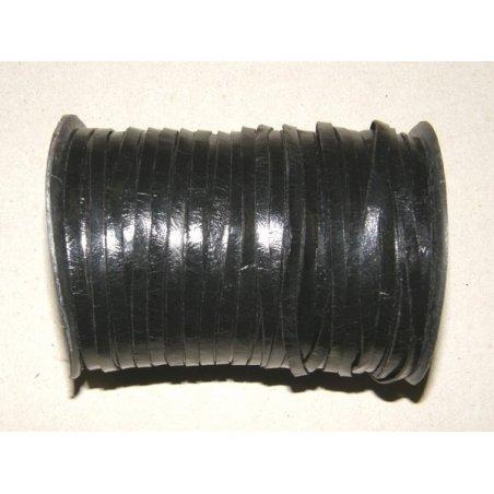 Lanière de cuir noir 3mm