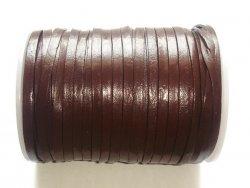 Lacet cuir plat 3mm brun