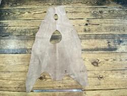 Peau de cuir de requin nubuck beige - poisson - exotique - luxe - maroquinerie - Cuir en stock