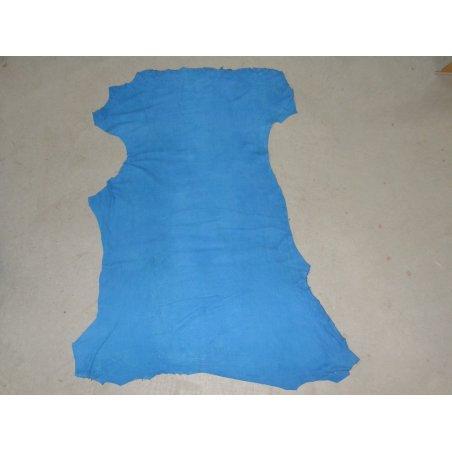 Agneau velours sauvage bleu