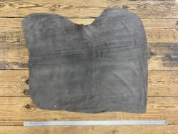 Peau de veau velours gris - maroquinerie - vêtement - ameublement - Cuir en Stock