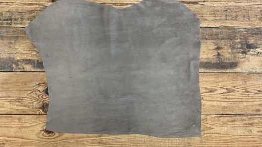 Peau de veau velours gris taupe - maroquinerie - vêtement - ameublement - Cuir en Stock