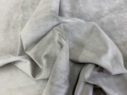 Souplesse peau de veau velours gris taupe - maroquinerie - vêtement - ameublement - Cuirenstock